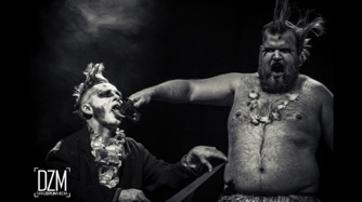 circus sideshow the great gordo gamsby sword swallowing juggling nightclub freakshow staple tongue