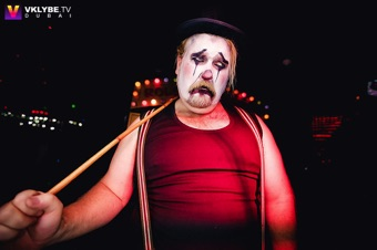 circus sideshow the great gordo gamsby sword swallowing juggling nightclub freakshow sad hobo clown
